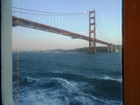 Sailing back to LA on RSSC Mariner under Golden Gate Bridge in San Francisc