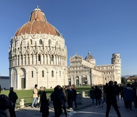 What a sight...the tower of Pisa, and on absolutely perfect day in December