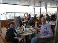 Family lunch on the Aquavit terrace first day of the cruise.