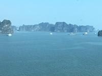 Ha Long Bay - view from our balcony