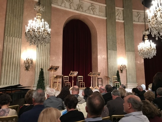 Awaiting for the Vienna Residence Orchestra too perform Mozart and Strauss.