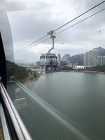 Big Buddha cable car Hong Kong.