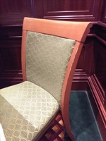 This is a picture of one of the crappy chairs that my wife and I sat on dur