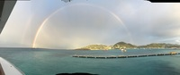 Full rainbow arriving in St. Maarten
