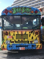 Fun bus that took us around town & to the beach