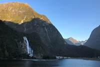Water Fall in Milford Sound