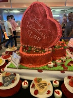 Welcome aboard cake display - Valentines Day - Ocean View Cafe