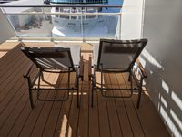 Two lounge chairs on the balcony