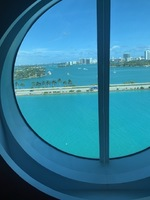 View from our cabin in Port Miami