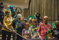Our Cruise Critic Roll Call put on a Mardi Gras parade throughout the ship,