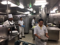 Lunch preparation in the Kitchen