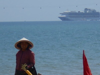 Sapphire Princess in the background at Nha Trang