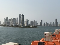 Departing Cartagena.