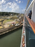Entering Panama Canal locks