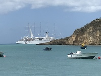 Picture of Windstar ship from port in Anguilla!