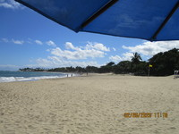 Golden sands of Playa Dorada in Puerto Plata, DR