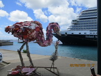 Lost & Found Flip Flop Bird Sculpture, Bonaire port