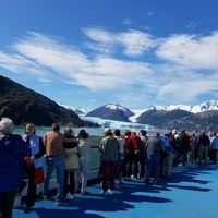 Glaciers from Marina during Chilean Fjords day