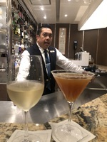Our favorite bartender, Oliver, at the La Dolce Vita Lounge