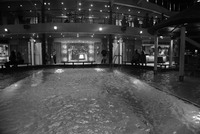 Night time shot of the pool on Carnival Magic